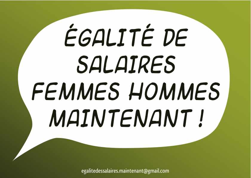 Stickers campagne egalité salariale